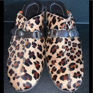 Cole Haan Leopard Mules Size 7